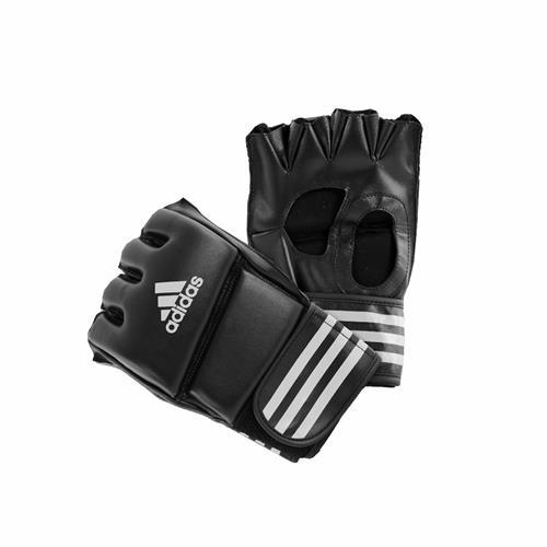 MMA Free Fight Adidas Boxe Gant Combat Libre PU  sans pouce Noir/Blanc Taille L