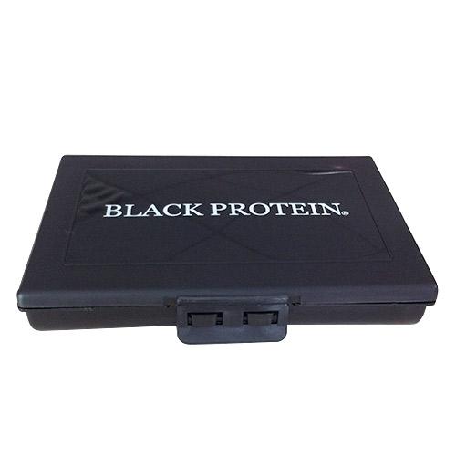 Black Protein Pilulier Noir Logo Blanc