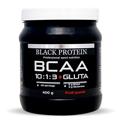 Acides aminés Black Protein BCAA 10:1:3 Vegan + Gluta / BCAA
