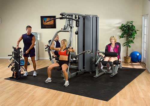 Bodysolid Pro Dual Tour pour 4 Stations (non incluses)