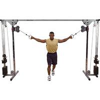 Poste pectoraux et épaules Cable Cross Over 2x75kg Bodysolid - Fitnessboutique