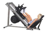 Poste cuisses et mollets Leg Press et Hack Squat 45 Degrés Bodysolid Club Line - Fitnessboutique