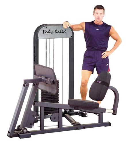 Bodysolid Leg Press W/210LB Stack Presse à Cuisse Guidée