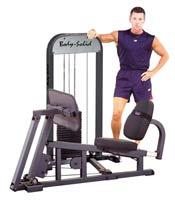 Postes isolés Leg Press W/210LB Stack Presse à Cuisse Guidée Bodysolid - Fitnessboutique