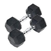 Barres et haltères spécifiques Bodysolid Paire Haltères hexagonales caoutchouc