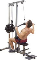 Poste dos et lombaires Bodysolid Double poste tirage dorsal