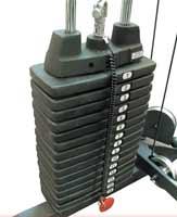 Musculation Bodysolid Option 90,5kg de Poids pour cage à squat GPR378