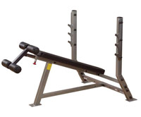 Banc de musculation Banc developpé décliné olympique Bodysolid Club Line - Fitnessboutique