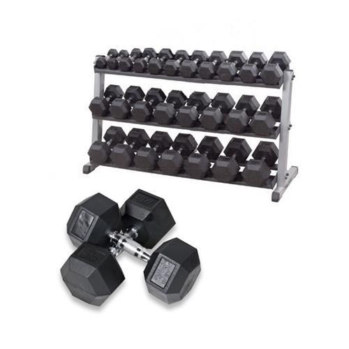 Support de rangement Bodysolid Pack haltères 12 kg à 30 kg avec Rack