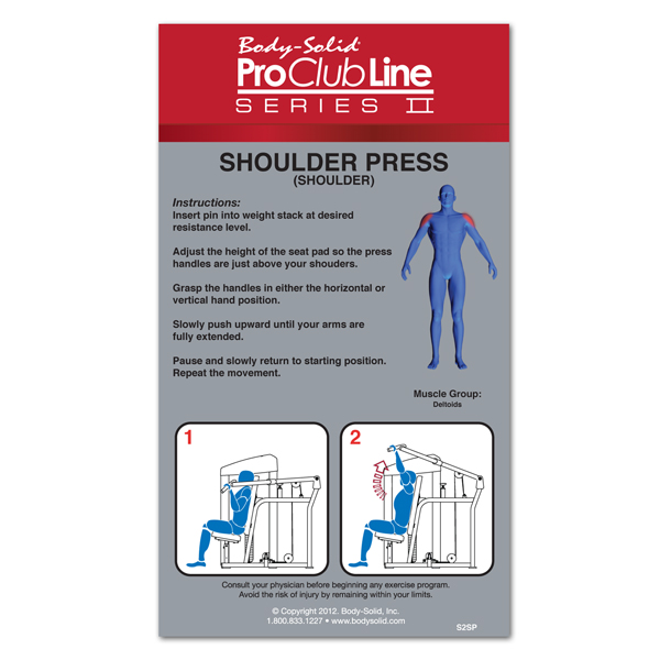 Bodysolid Club Line Shoulder press 140 kg