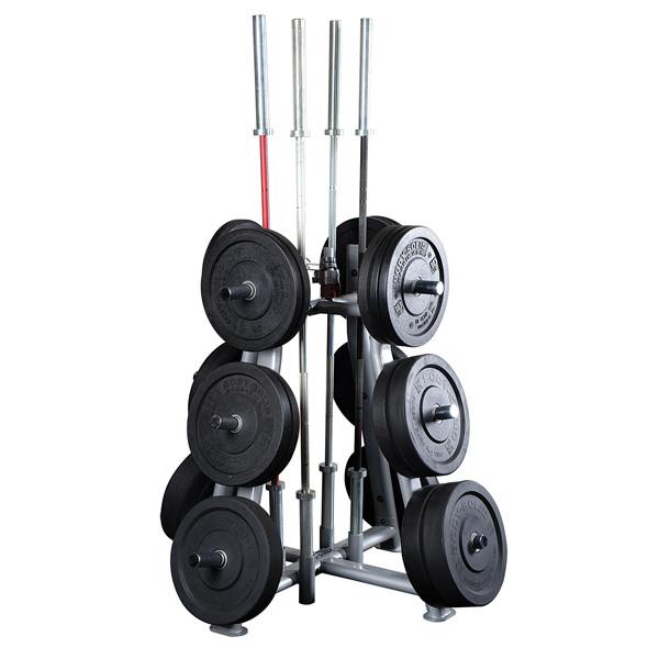 Bodysolid Rangement de poids et barres Olympiques