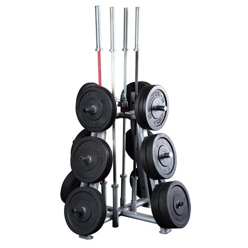 Support de rangement Bodysolid Rangement de poids et barres Olympiques