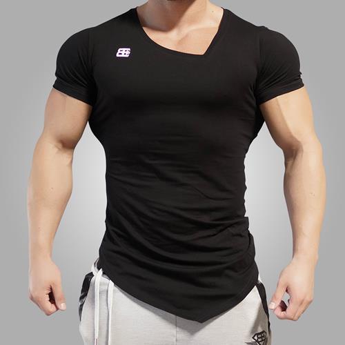 T-shirts Body Engineers Yurei Asymmetric V Neck