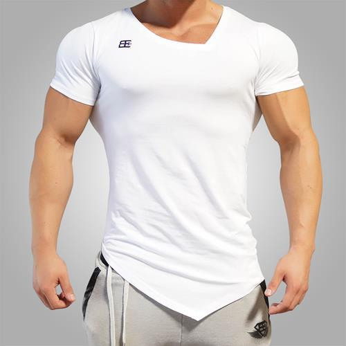 T-shirts Body Engineers Yurei Asymmetric V Neck