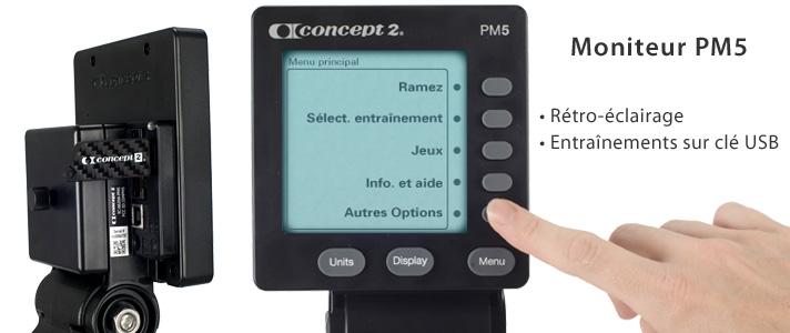 Rameur Concept2 Modèle D avec écran PM5