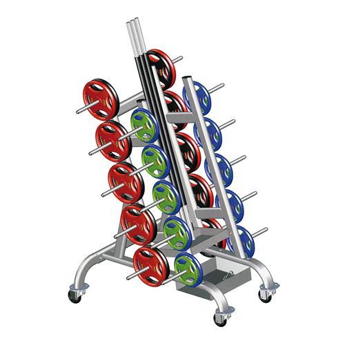 Accessoire de tirage Disportex Ratelier mobile pour 25 kit Body Pump Reconditionné