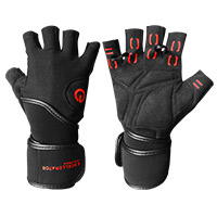 Gant et strap Excellerator Weightlifting gloves with Wrist Support Taille S