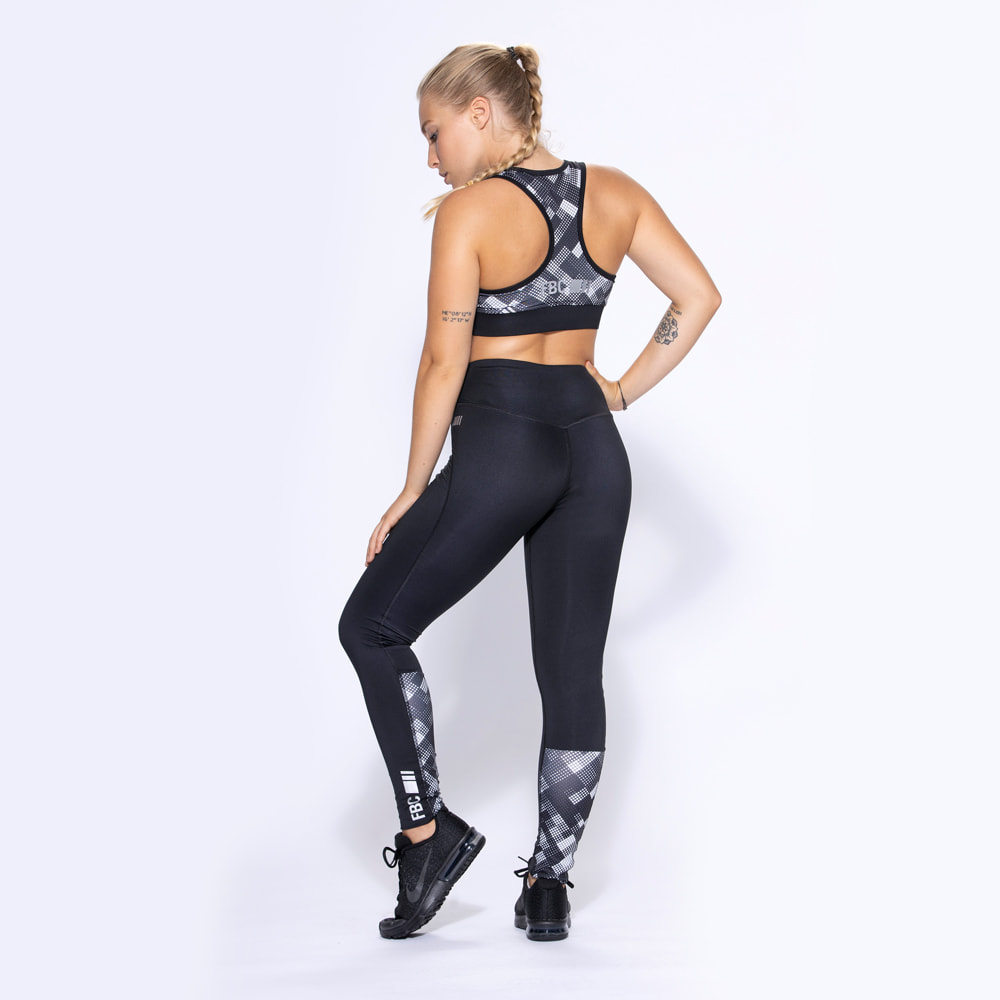 FBC Curve Geometrique Legging Caviar