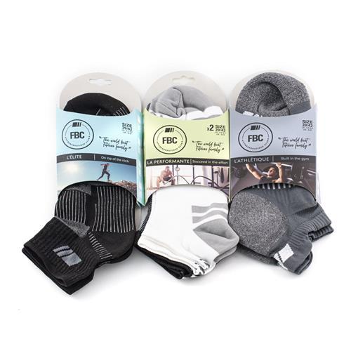 Chaussettes de sport FBC Pack Multisport - Black & White