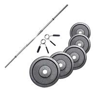 Standard - Diamètre 28mm Fitness Doctor Pack Barre de 1,83 m + Poids 100 kg