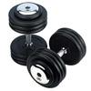 Barres et haltères spécifiques Paire d'haltères ronds caoutchouc Heubozen - Fitnessboutique