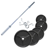 Musculation Pack Poids Olympiques 140 kg + barre + stop disques Fitness Doctor - Fitnessboutique