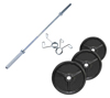 Musculation Pack Poids Olympiques 70 kg + barre + stop disques Fitness Doctor - Fitnessboutique