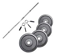 Standard - Diamètre 28mm Fitness Doctor Pack Barre de 1,83 m + Poids 40 kg
