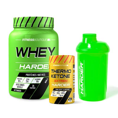 Whey protéine Pack Harder Seche Harder - Fitnessboutique