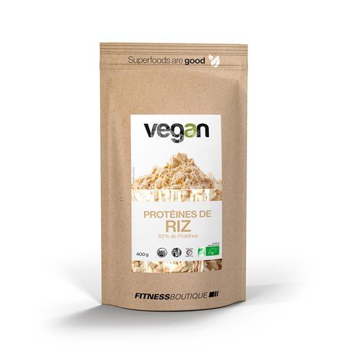 Cuisine - Snacking Proteines de Riz 83 % Cru et BIO Vegan - Fitnessboutique
