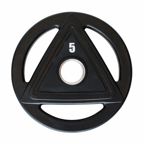 Disque Heubozen Disque caoutchouc olympique 5 kg Noir