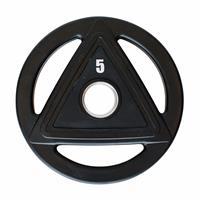 Disque Disque caoutchouc olympique 5 kg Noir Heubozen - Fitnessboutique