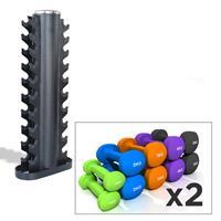 Support de rangement Pack Haltères + Rack Heubozen - Fitnessboutique