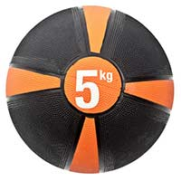Médecine Ball et Balle lestée FITNESS-MAD Medecine Ball 5kg - orange/noir