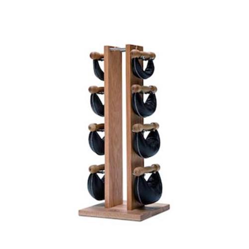 Barres, poids, haltères Nohrd Tour Chêne avec poids cuir noir 1,2,4,6 kg