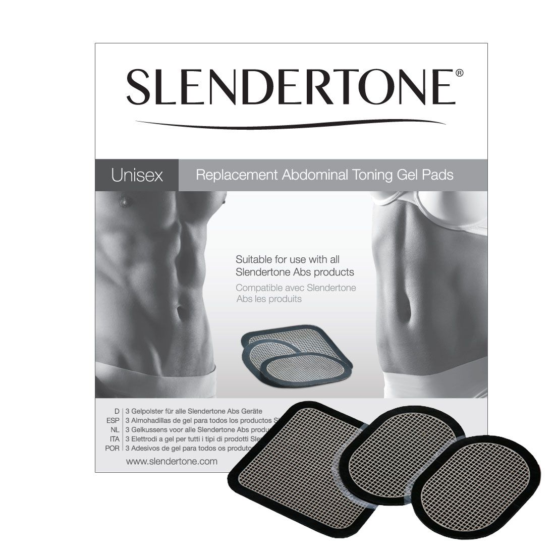 Slendertone Electrodes Abs8, Abs7, Abs6, Abs5, Connect Abs, et Abs3.