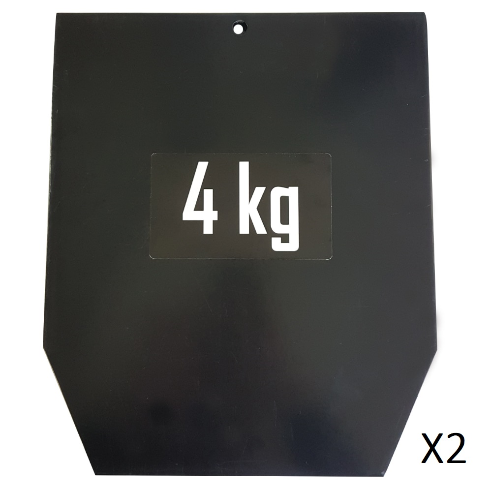 Sveltus Plaque 4 kg pour gilet lesté (la paire)