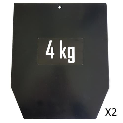 Accessoires Fitness Sveltus Plaque 4 kg pour gilet lesté (la paire)