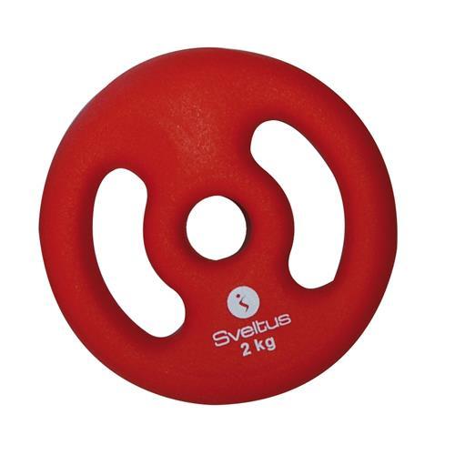 Musculation Sveltus Disque Vinyle avec poignées symétriques
