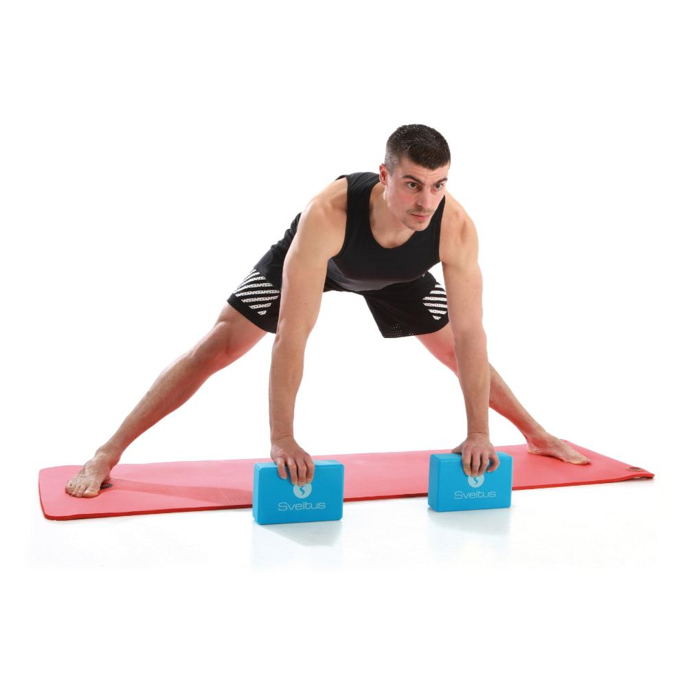 Sveltus Yoga brick mousse bleu