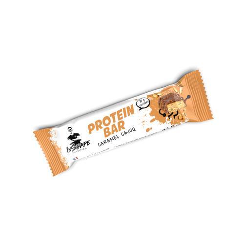 Barres protéinées Barre Protéinée Caramel Cajou InShape Nutrition - Fitnessboutique