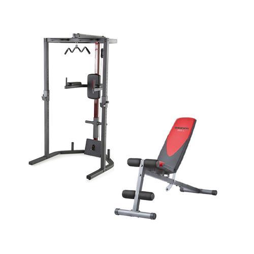 Smith Machine Pack Power Rack + Banc Pro 255 L Weider - Fitnessboutique
