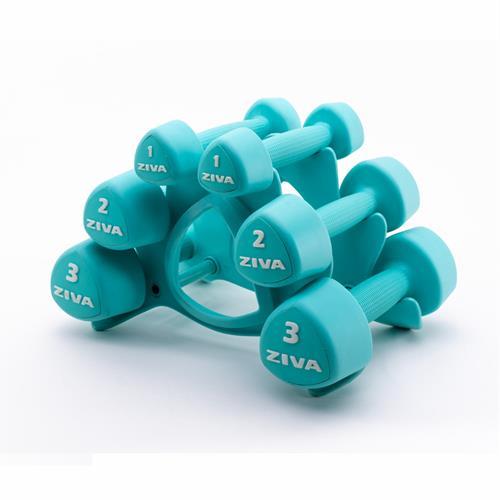 Barres et haltères spécifiques Ziva Studio Tribell Dumbellset (2 x 1kg, 2kg and 3kg)